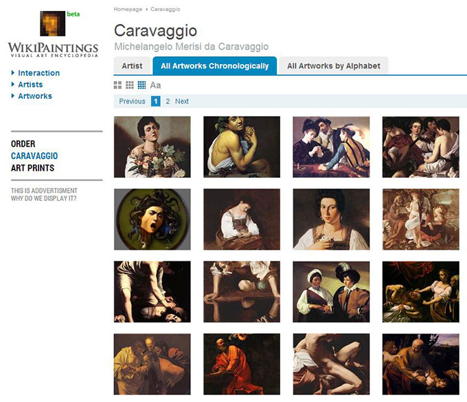 Wikipaintings-caravage