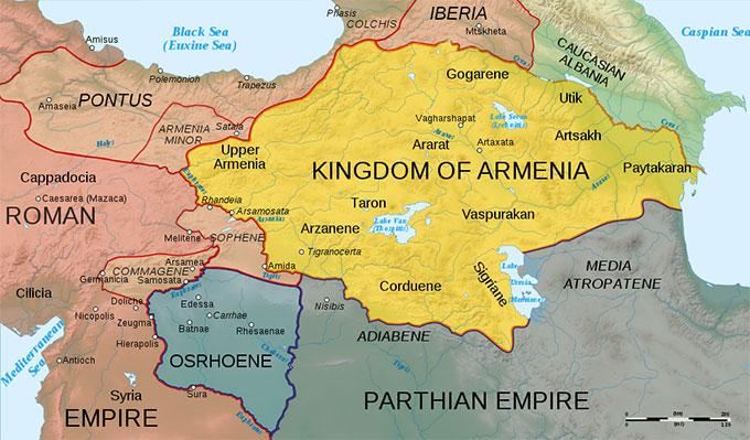 A l'est de l'empire romain...