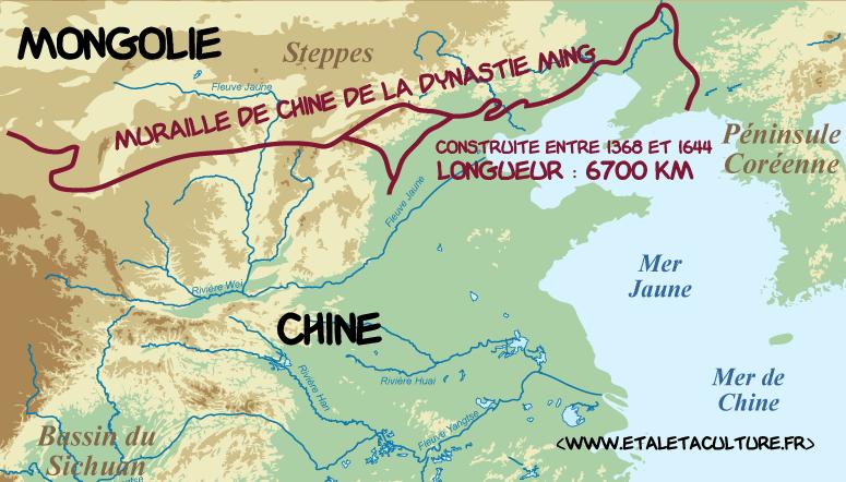 Carte Chine Grande Muraille.La Grande Muraille De Chine Le Mur Aux 10 000 000 De Morts