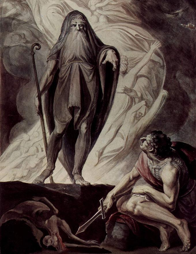 Ulysse invoquant Tirésias