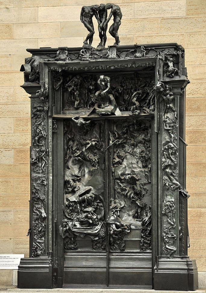 La porte de l enfer le chef d uvre d auguste rodin pass la loupe - L encadrure de la porte ...