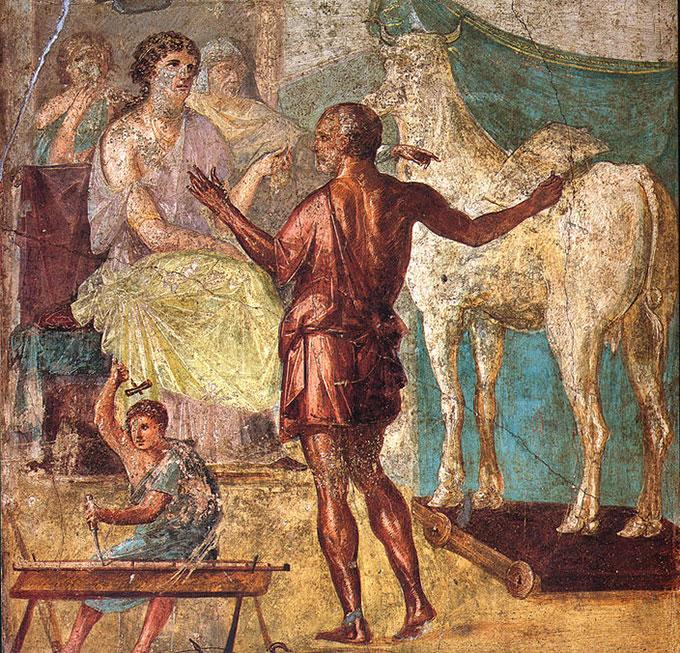 La vache en bois de Pasiphae