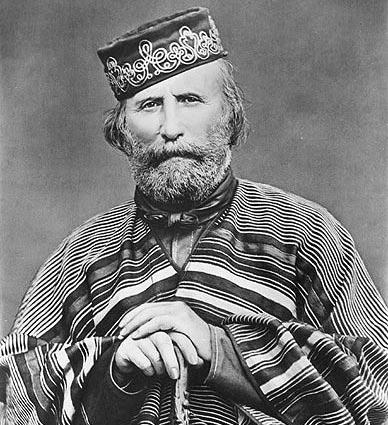 Portrait de Giuseppe Garibaldi en 1866