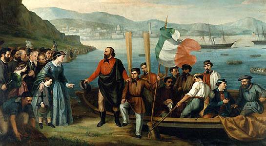 Début de l'expédition des Mille - Embarquement à Quarto, un quartier de Naples