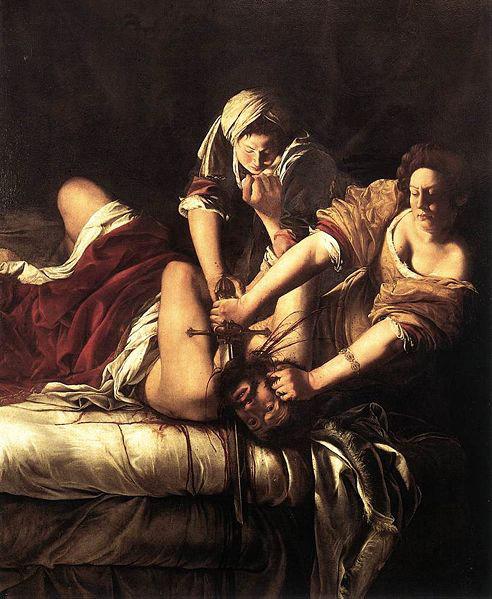 Judith décapitant Holopherne, par Artemisia Gentileschi, 1620