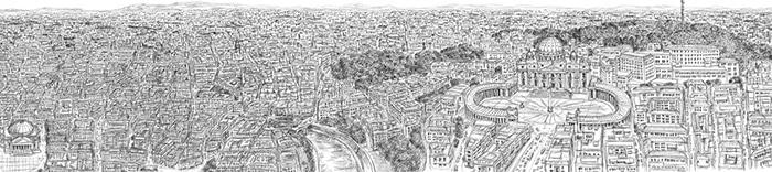 Rome dessinée par Stephen Wiltshire