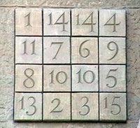 Le carré magique de la Sagrada Familia