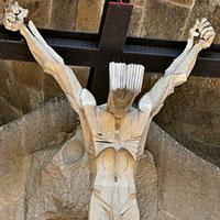 Christ de la façade de la Passion - Sagrada Familia