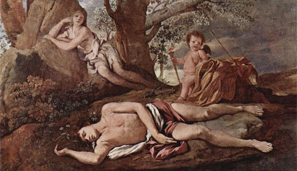 Echo et Narcisse - Nicolas Poussin, 1630