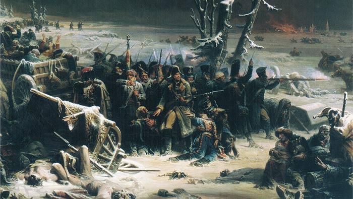 Le marechal Ney pendant la retraite de Russie, Adolphe Yvon