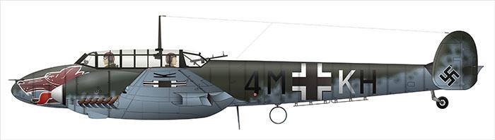 Messerschmidt BF 110 - avion utilisé par Hess pour se rendre en Angleterre