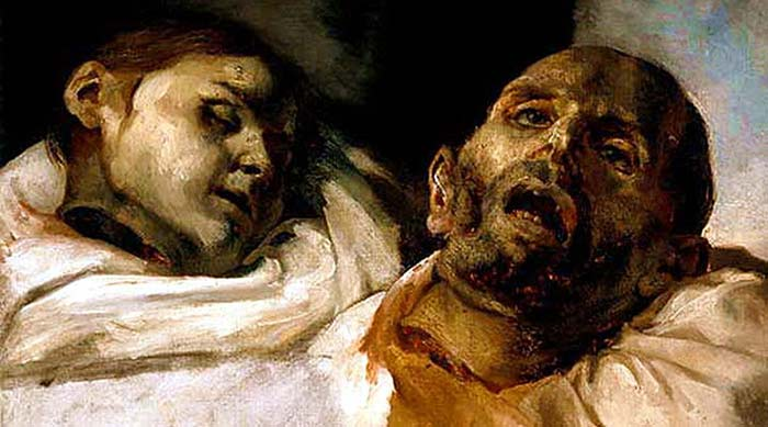 Têtes de suppliciés, Théodore Géricault
