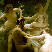 William-Adolphe Bouguereau, Nymphes et Satyre (1873)-thumb