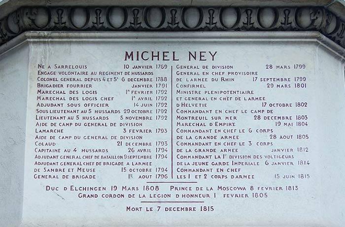 La carrière du Maréchal Ney