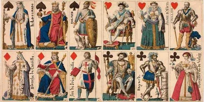 Ancien jeu de cartes à jouer