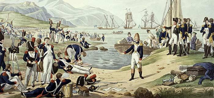 Le débarquement de Napoléon à Vallauris