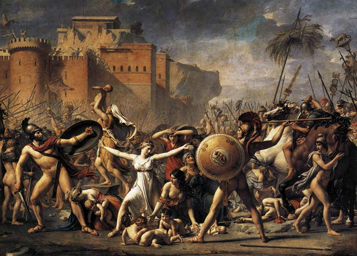 L'intervention des Sabines, par Jacques-Louis David (1799, Musée du Louvre)