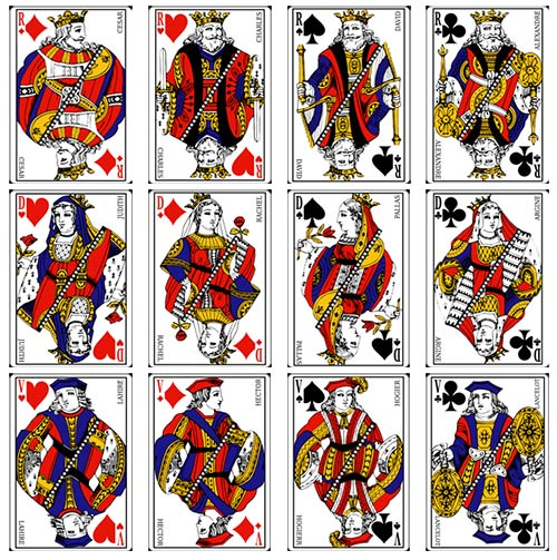 Les figures d'un jeu de cartes traditionnel