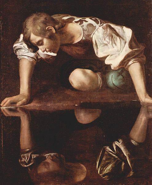 Narcisse, Le Caravage, 1595