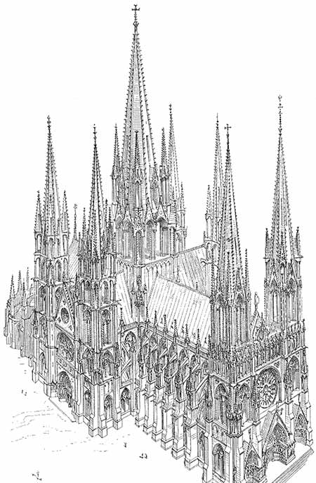 La cathédrale idéale suivant Viollet Le Duc