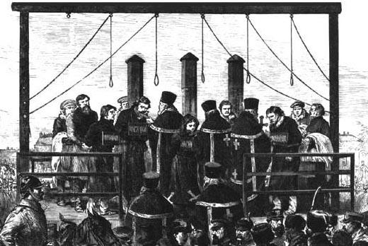 Execution de l'ensemble des conjurés ayant participé à l'assassinat d'Alexandre II