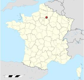 carte de localisation - château de Pierrefonds