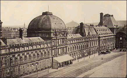 Le palais des Tuileries en 1865