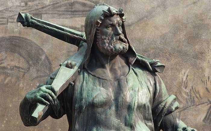Statue de Guillaume Tell et son fils à Altdorf