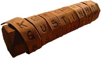 La scytale, premier système de cryptologie de l'histoire militaire