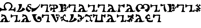 L'alphabet énochien, ou langage des anges