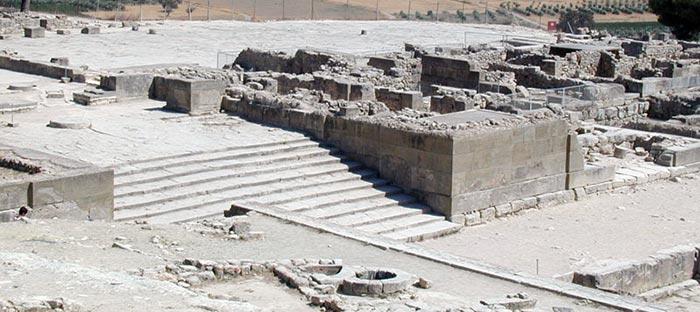 Entrée du palais de Phaistos