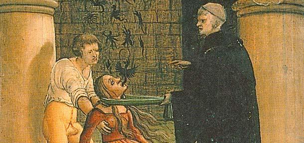 Exorcisme - sortie des démons par la bouche, 1519