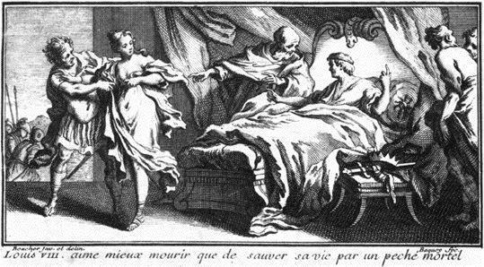 La mort de Louis VIII, qui aime mieux mourir que de sauver sa vie par un pêché mortel