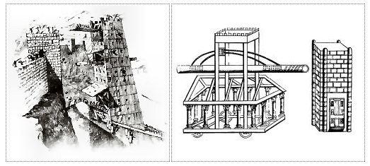 Tour de siège et tortue romaine