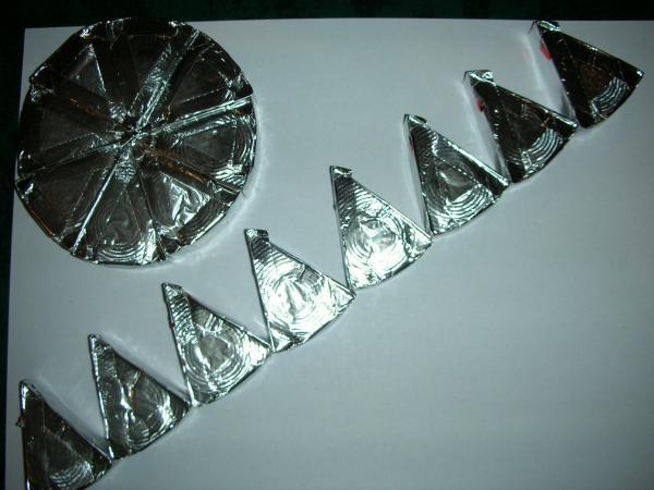 Déoupage d'un cercle en triangles élémentaires
