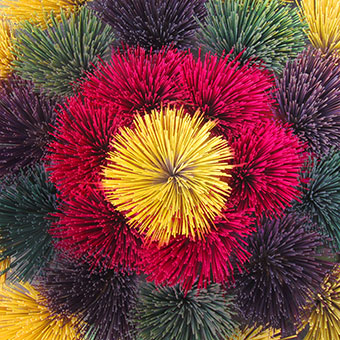 Une explosion de couleurs avec des batonnets d'encens