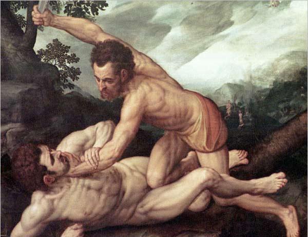 Caïn tuant son frère Abel