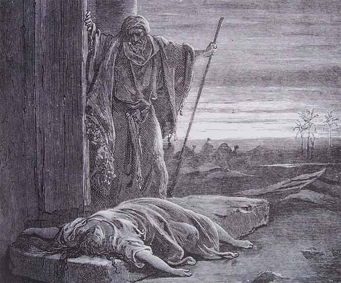 La femme du Lévite violée