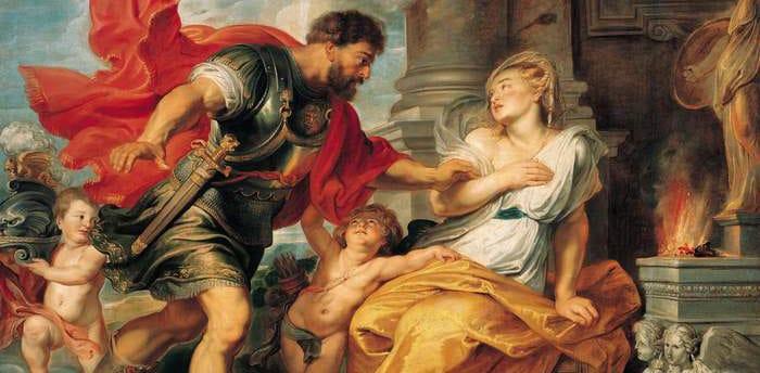 Mars et Rhéa, par Rubens