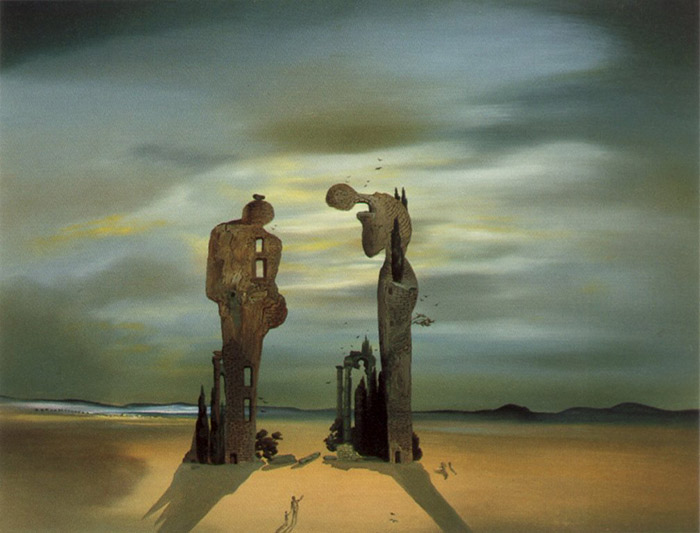 Angélus de Millet façon Salvador Dali