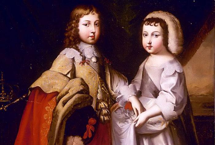Louis XIV et son frère Philippe