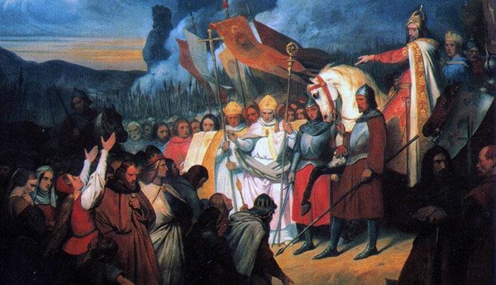 La soumission des Saxons à Charlemagne, par Ary Scheffer