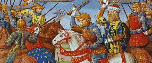 L'armée de Charlemagne contre les Sarrazins