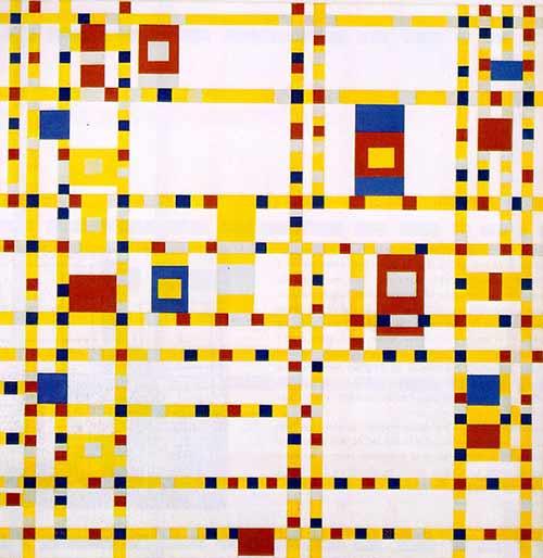 Broadway boogie woogie de Piet Mondrian