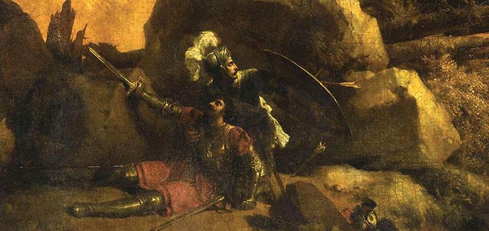 Mort de Roland en 778, par Michallon Achille-Etna
