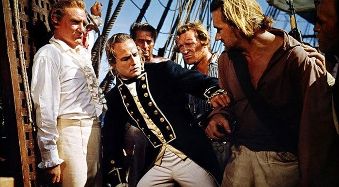La mutinerie du Bounty, où l'on voit Bligh et 18 de ses hommes embarqués sur une chaloupe