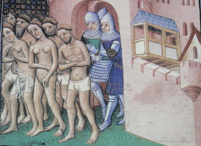 L'expulsion des Cathares de la ville de Carcassonne en 1209