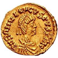 Pièce d'or à l'effigie de Romulus Augustule, dernier empereur romain