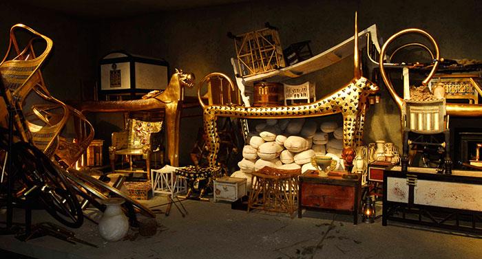 Aperçu des objets retrouvés dans la tombe de Toutankhamon