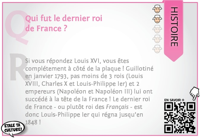 carte002 - Histoire - Qui fut le dernier roi de France
